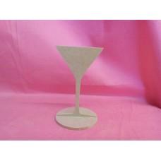4mm MDF Cocktail glass 130mm tall
